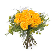 15 Short-stemmed Yellow Roses
